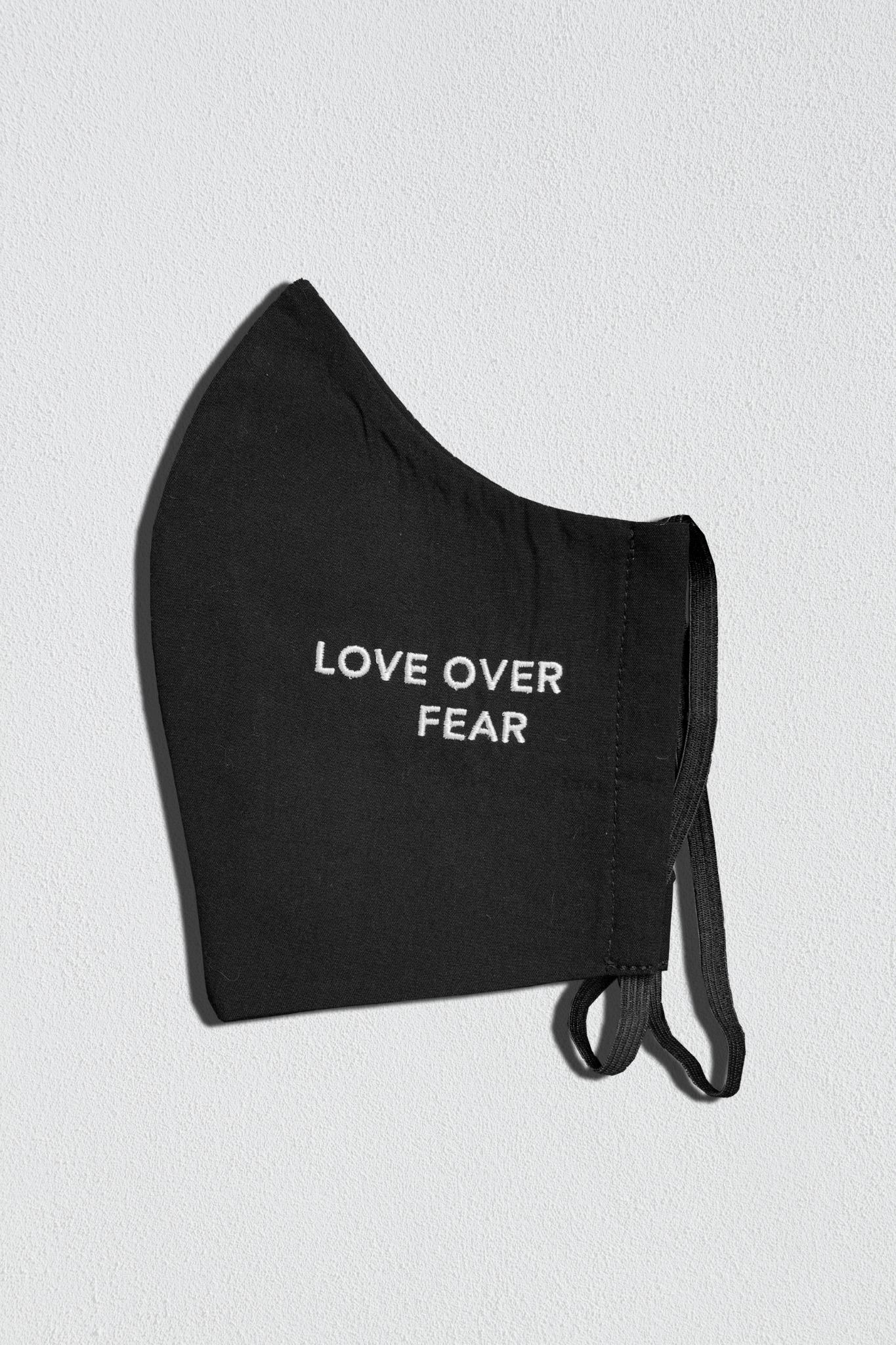 Love Over Fear | Stay Meshugge Mask