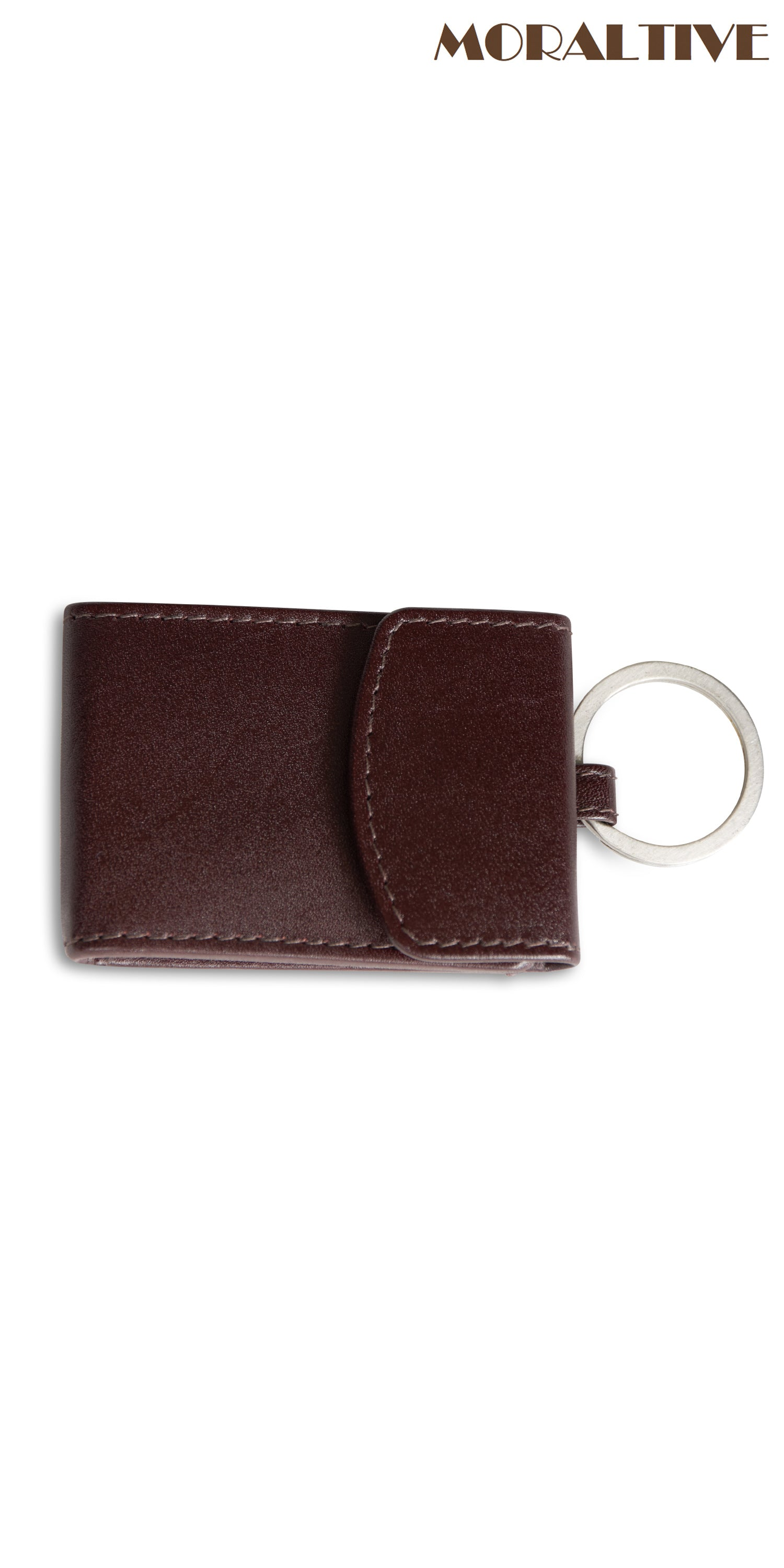 Moraltive Keyring with Purse Brown