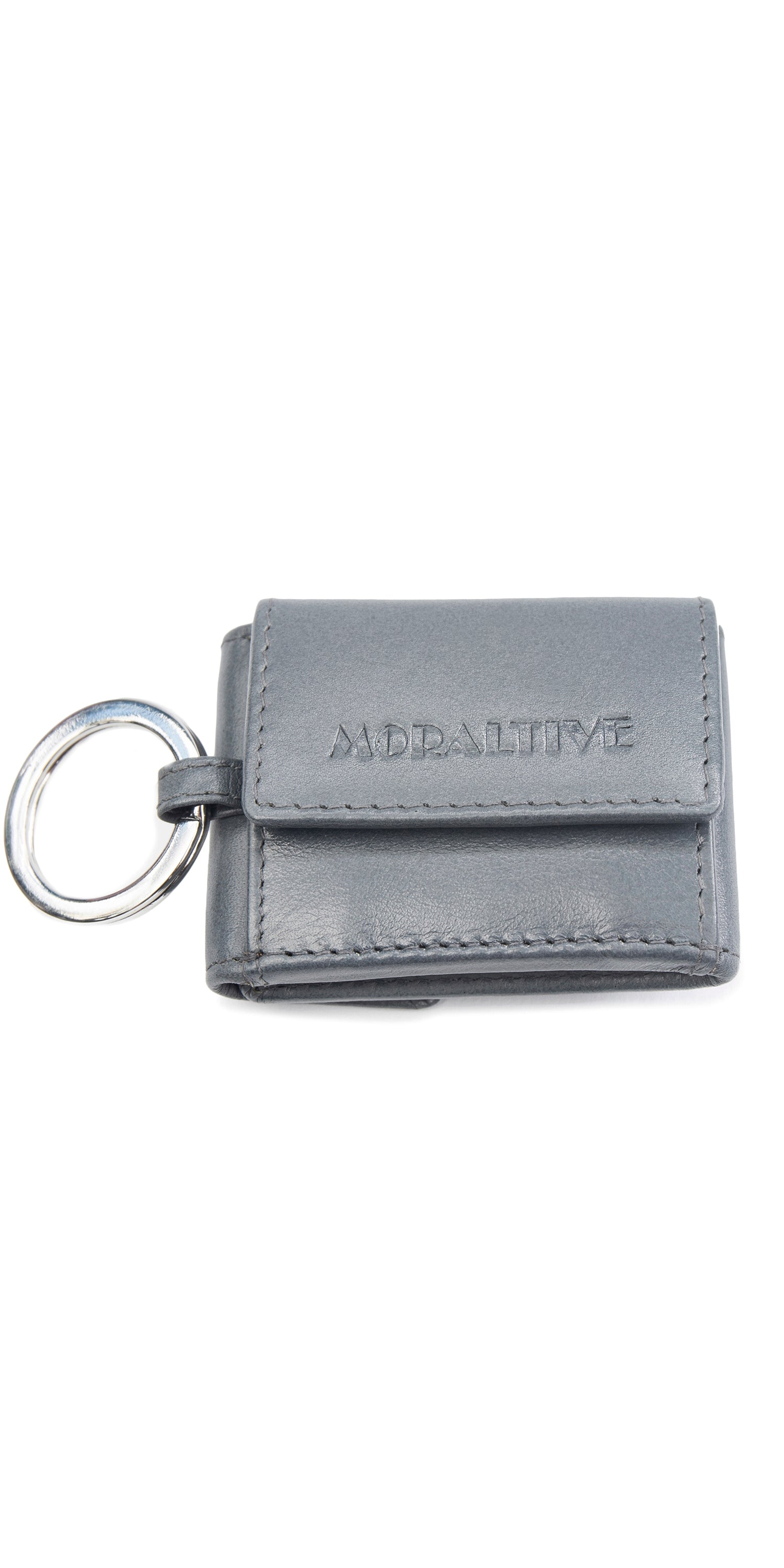 Moraltive Keyring with Purse Grey