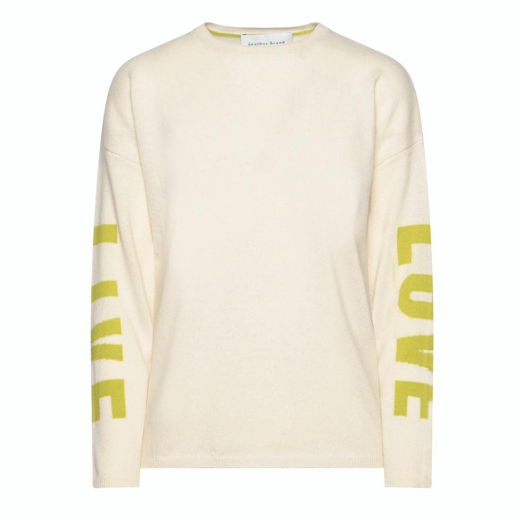 Pullover Live Love - Off White