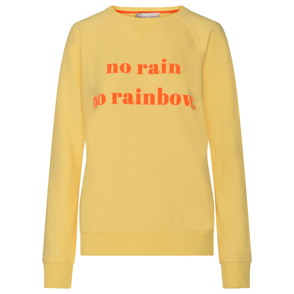 Sweatshirt No Rain No Rainbow - Yellow
