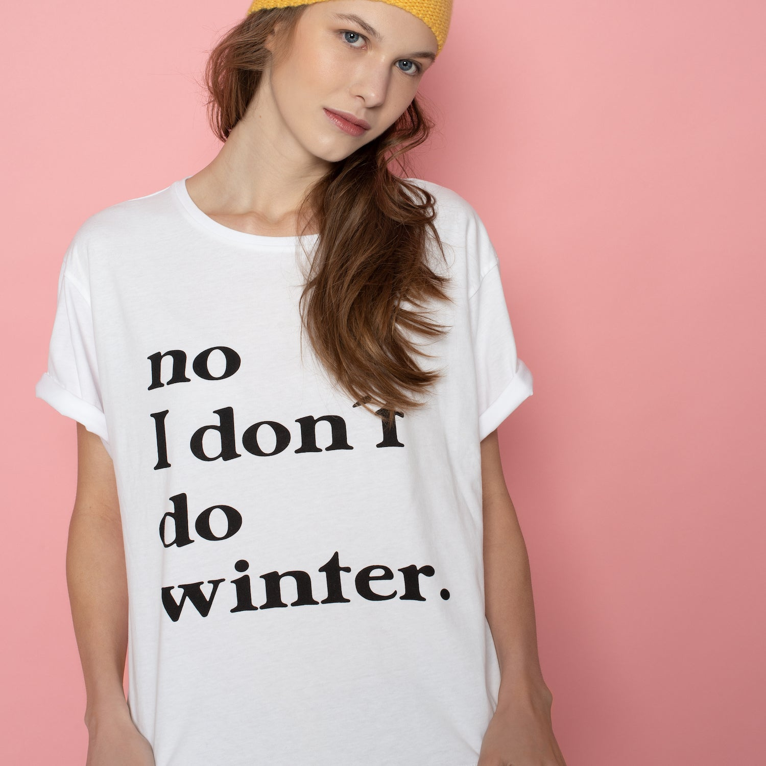 T-shirt I don't do winter - White