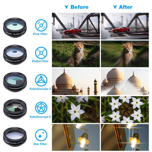 10 in 1 Clip-on Lens Kit