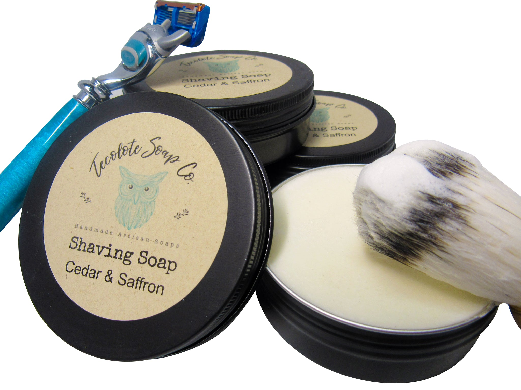 Cedar & Saffron Shaving Soap