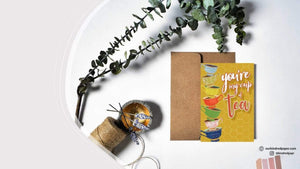 Jayida Che Herbal Tea Spot All Occasion Greeting Cards