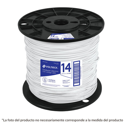 Cable THHW-LS, 10 AWG, blanco, bobina 500 m