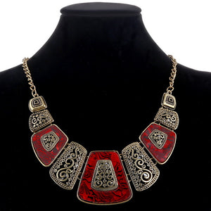 Vintage geometric necklaces