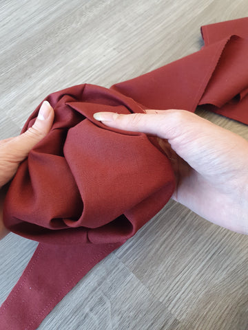 Turn back bodice pieces through to right side