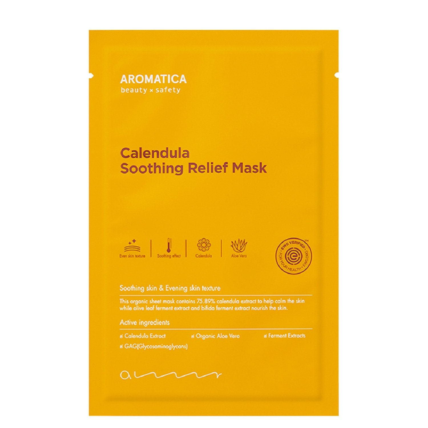 Aromatica Calendula Soothing Relief Mask (5 pack) Sheet Mask - Skinspace