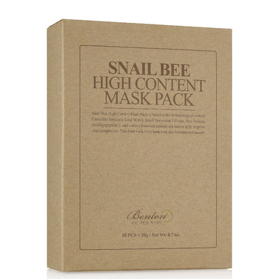 Snail Bee High Content Sheet Mask Sheet Mask Benton