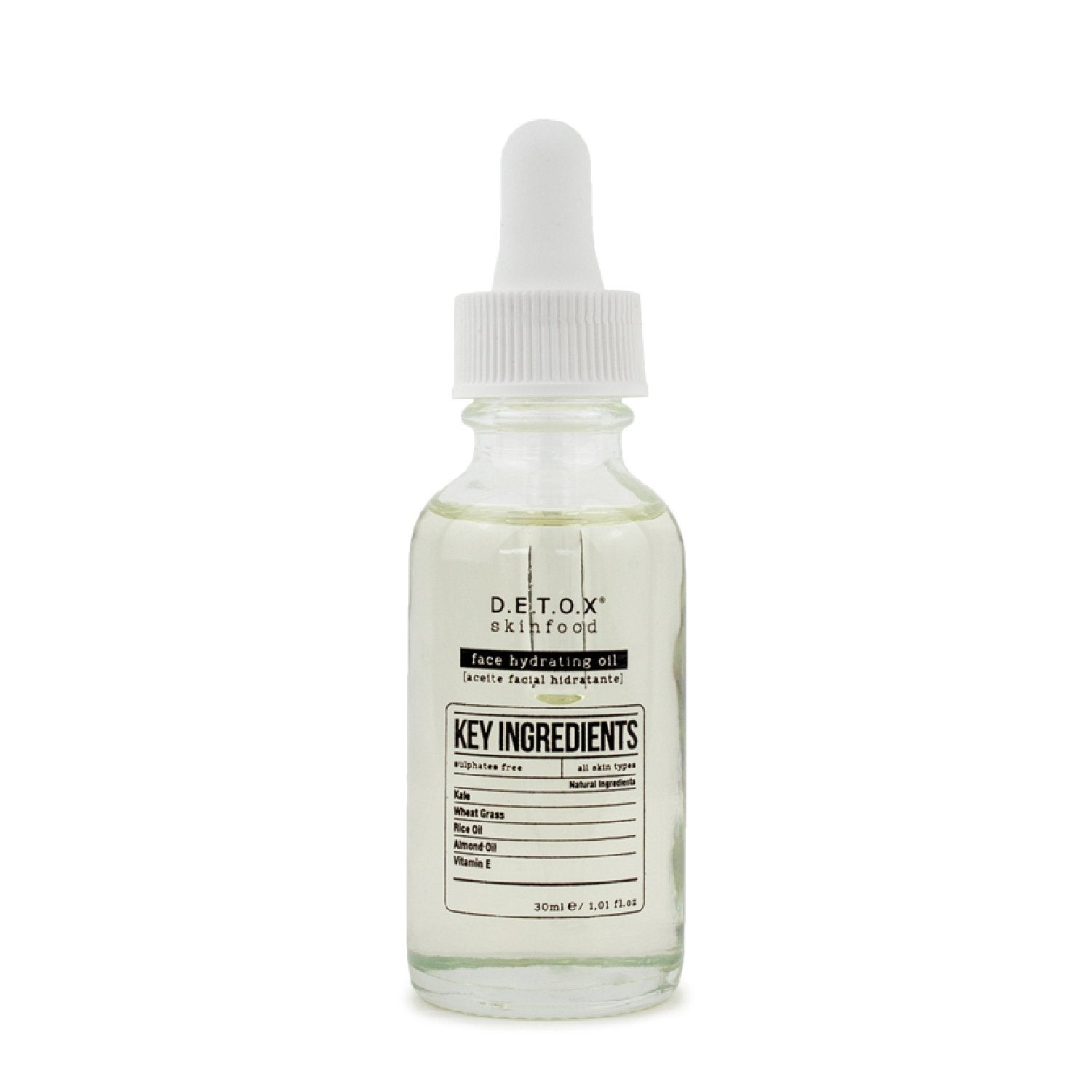 Detox Skinfood Face Hydrating Oil (30ml) - Skinspace