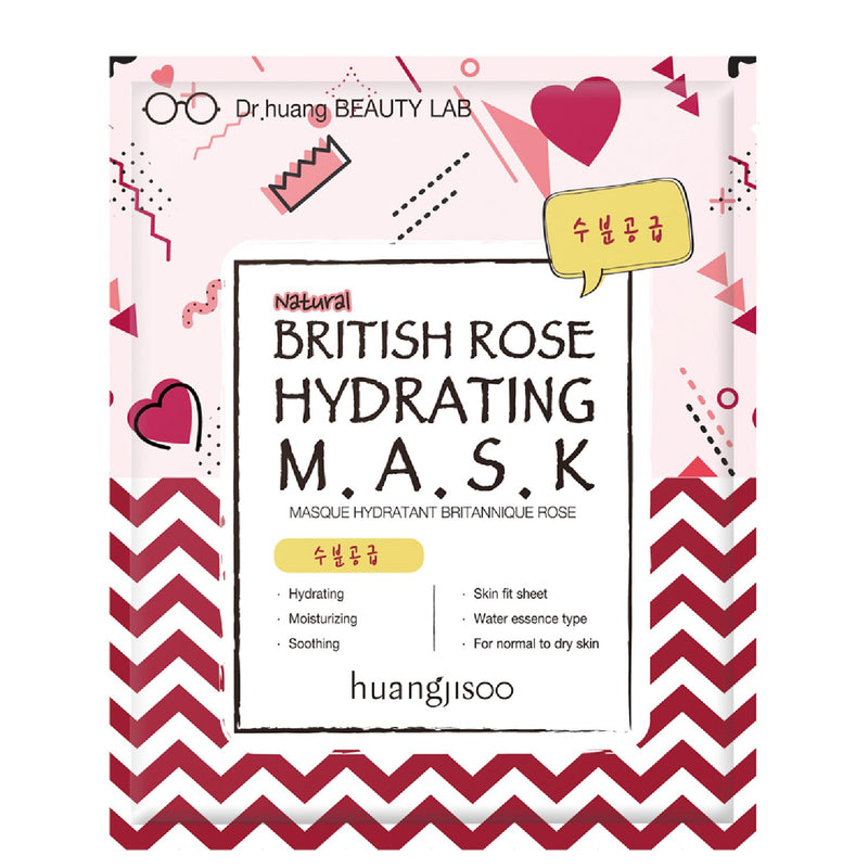British Rose Hydrating Mask Sheet Mask Huangjisoo