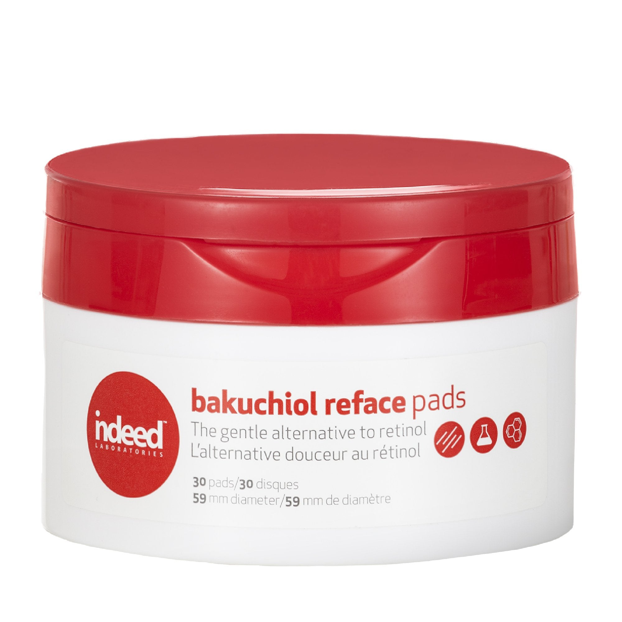 Indeed Labs bakuchiol reface™ pads (30) Toner - Skinspace