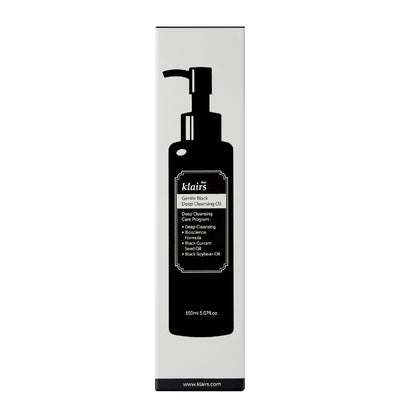 Klairs Gentle Black Deep Cleansing Oil (150ml) - Skinspace