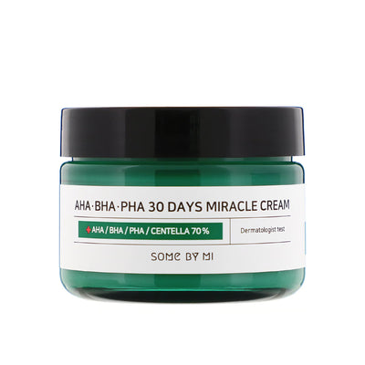 AHA, BHA, PHA 30 Days Miracle Cream (50ml) Moisturiser SOME BY MI