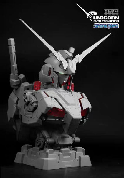 [Pre Order] Spark Toys 1:35 RX-0 Unicorn auto transforming bust