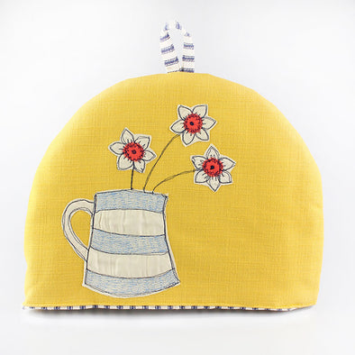Cornish narcissi - small tea cosy
