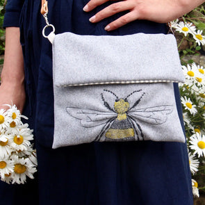 Bee - Love Lane embroidered crossbody bag Pack of 2