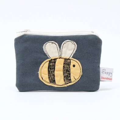 busy bee - embroidered small useful purse pack of 6