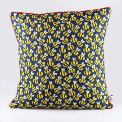 bees - piped cushion cover - pack of 2