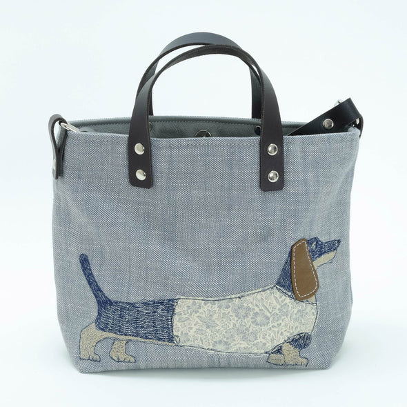 Dachshund - mini sketchbook tote bag