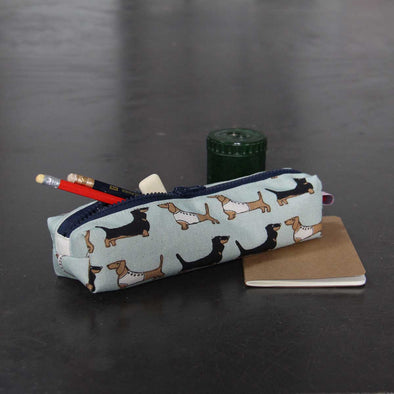 darling dachshund (duck egg) - pencil case - pack of 6