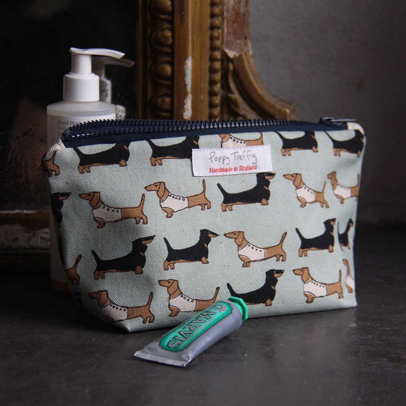 dachshund - small wash bag pack of 3