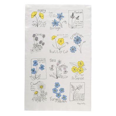 flowers - tea towel pack of 6