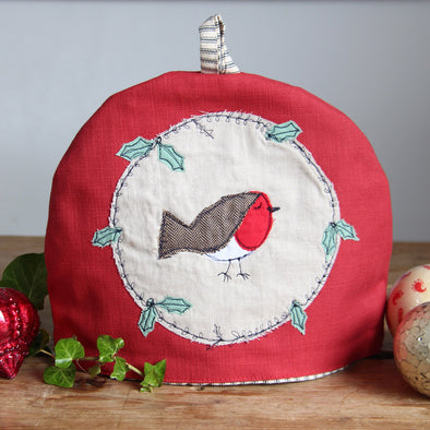 Christmas Robin - tea cosy