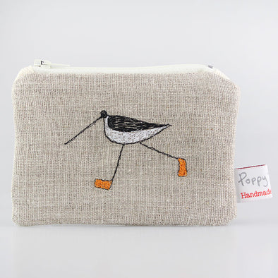 oyster catcher - embroidered small useful purse pack of 6