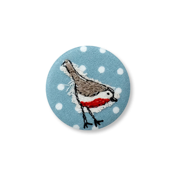 robin - pretty badge pack of 5