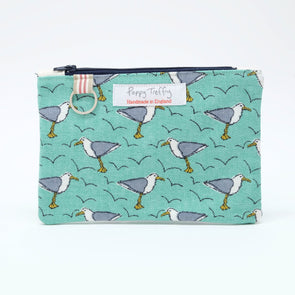 seagull - flat purse with keyring pack of 6