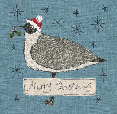pack of 5 Christmas cards in seagull design - 6 packs of 5
