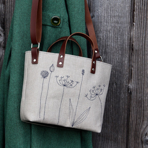 seed heads - mini sketchbook tote bag