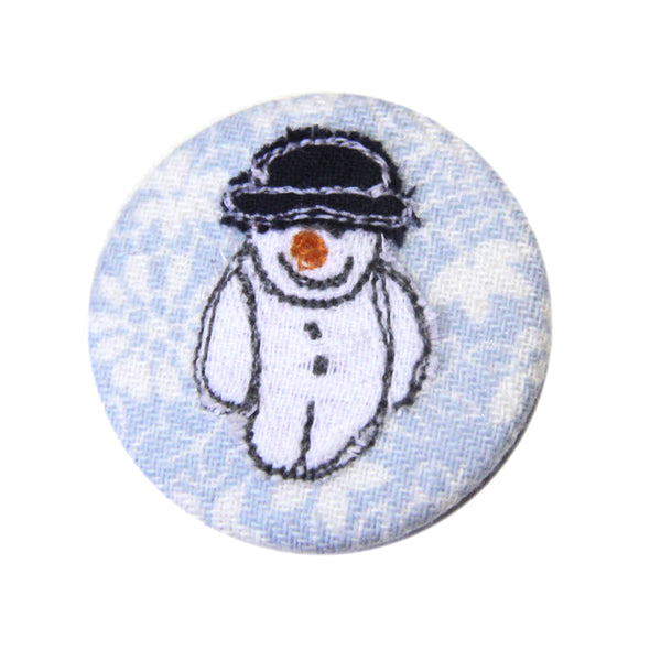 Christmas snowman - pretty badge - pack of 5