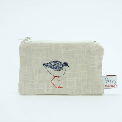 turnstone - embroidered small useful purse (cream) pack of 6