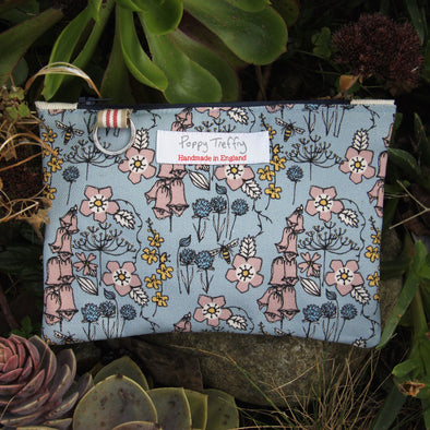 wild flowers - flat purse with keyring pack of 6