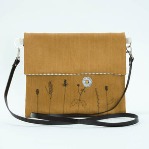 Wild grasses - Love Lane embroidered crossbody bag Pack of 2
