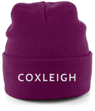 Load image into Gallery viewer, Coxleigh Barton Cuffed Beanie with Embroidery
