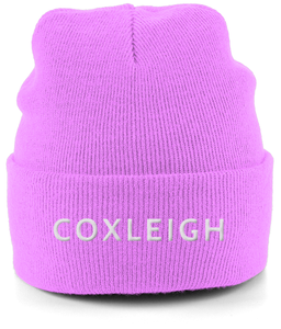 Coxleigh Barton Cuffed Beanie with Embroidery