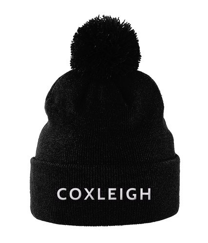 Coxleigh Barton Pom Pom Beanie with Embroidered Logo
