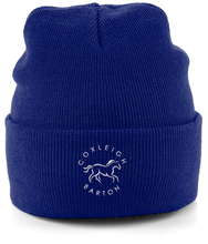 Load image into Gallery viewer, Coxleigh Barton Cuffed Beanie with Embroidered Logo