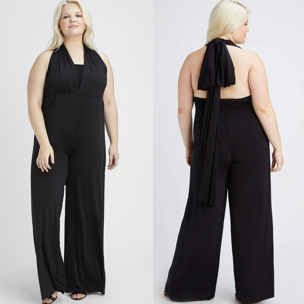 co-edition x twobirds black convertible jumpsuit