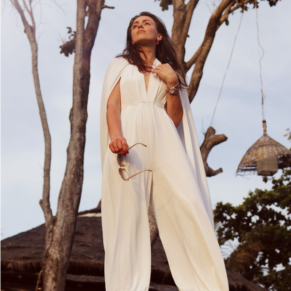 twobirds convertible white jumpsuit