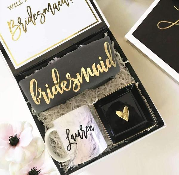 Bridesmaid proposal box from The Lucky Maiden