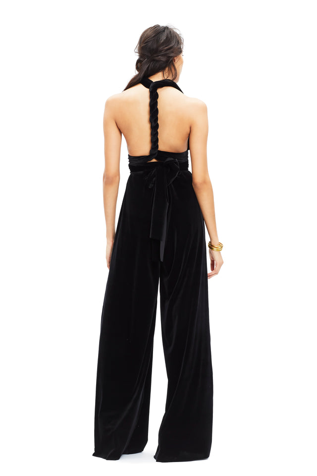 Black Velvet Jumpsuit