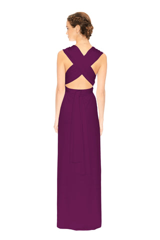Convertible Slit Dress Aubergine