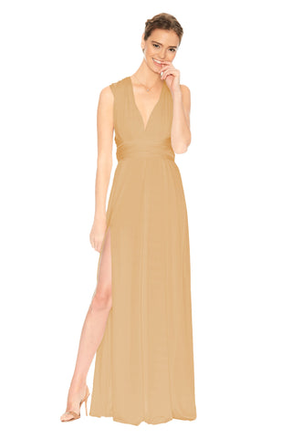 Slit Dress Champagne Gold