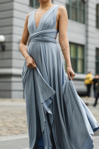 Classic Ballgown in Dusty Blue
