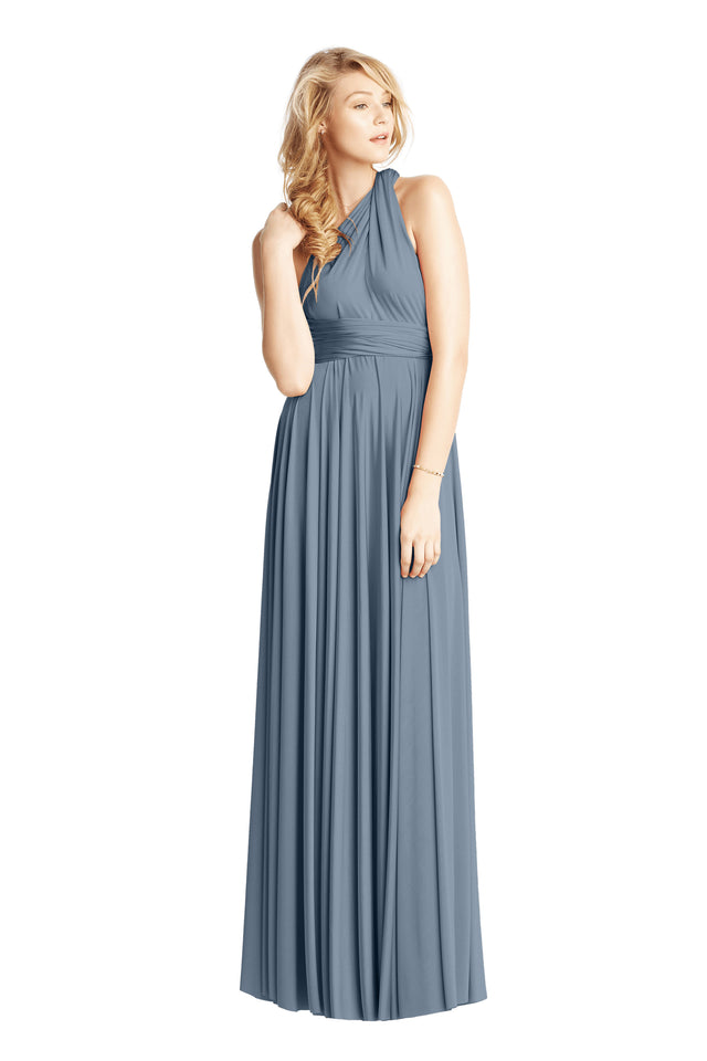 Dusty Blue Convertible Ballgown